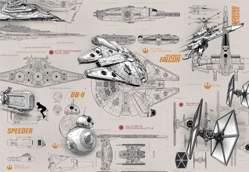 Фотообои Komar 8-493 Star Wars Blueprints